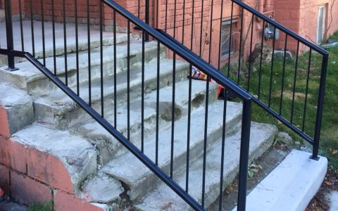 Even old run down stairs look great with new handrail