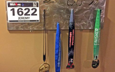 Stainless steel triathlon medal holder
