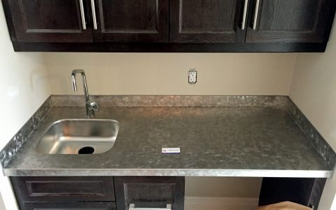Stainless Steel Countertop with Welded Sink