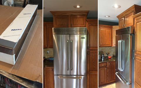Polished Stainless Steel Above Fridge Louver